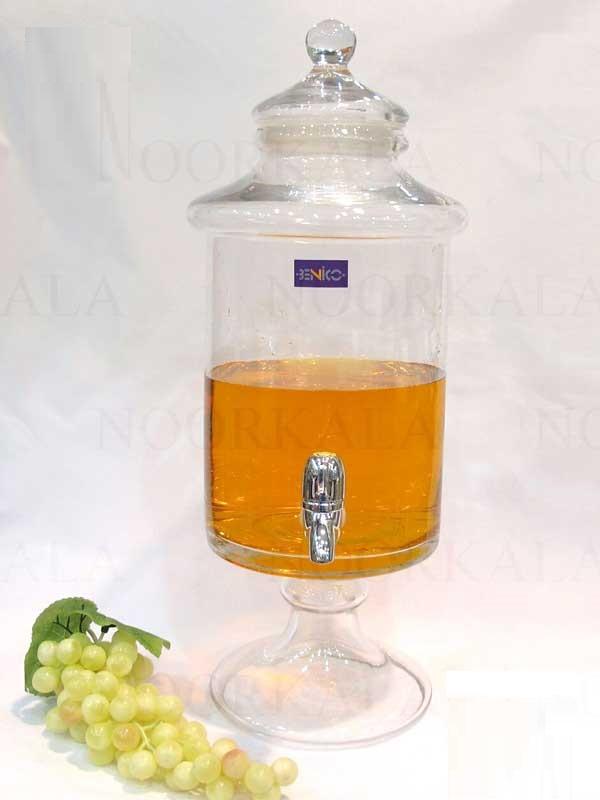 کلمن آب و آب میوه شیشه ای 8.5 لیتری