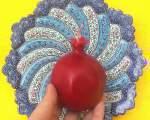 خرید پستی  شمع 4 تایی شب یلدا طرح انار