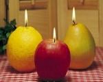 خرید پستی  شمع های میوه ای 4عددی