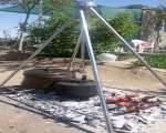 خرید پستی  منقل چهارپایه ی آتش