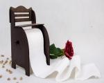 خرید پستی  پایه دستمال توالت رولی طرح نیمکت