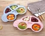 خرید پستی بشقاب غذای کودک گیاهی طرح ماشین طراحی منحصر به فرد و جذاب